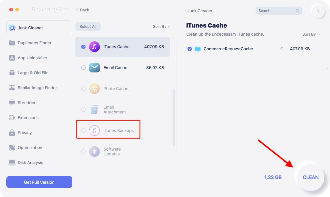 Удалить iTunes Backup на Mac