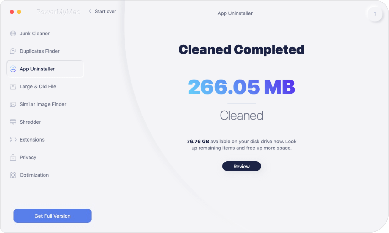 uninstaller clean complete