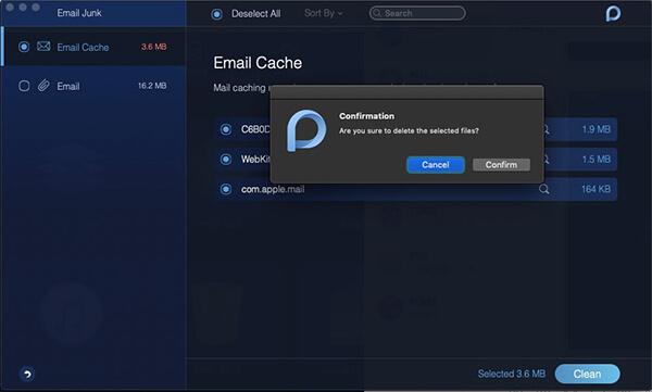 correo electrónico no deseado eliminar caché