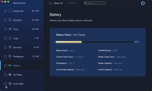 batería de mantenimiento