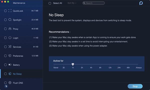 mantenimiento durmiendo