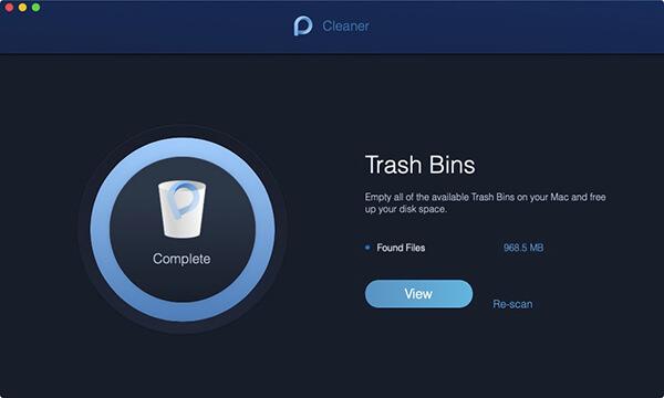 escaneo del cubo de basura hecho