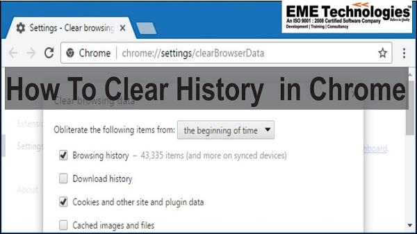 Chromeで履歴を消去する方法