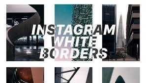 Instagramで白い境界線を追加する