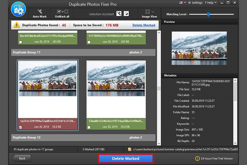 Photo Recovery Feature of Duplicate Photos Fixer Pro