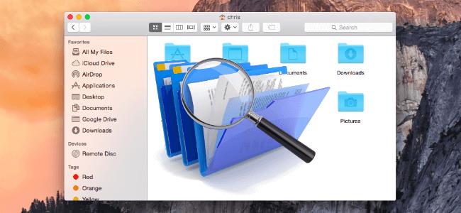ابحث عن الملفات المكررة على نظام Mac