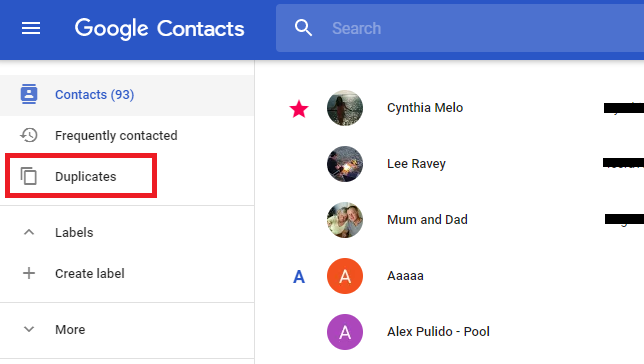 Remove Duplicate Contacts Using Google Account