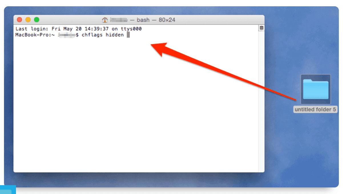 Hide Files on Mac Using Terminal