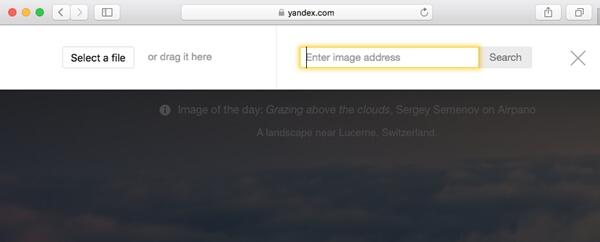 Yandex的反向图像搜索