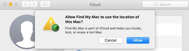 내 Mac 찾기 설정