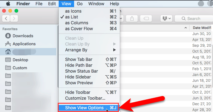 Attach the Column Size to Display the Category in the Finder Application