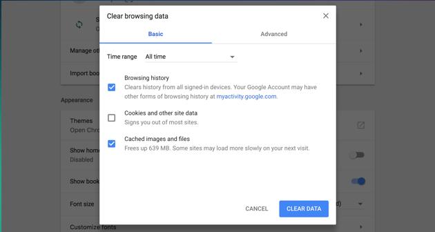 Chrome-Browsing-Daten