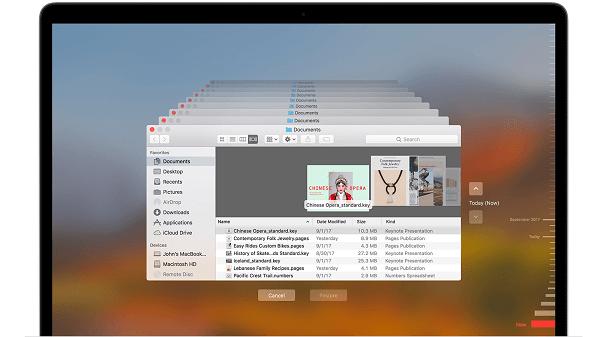 Cómo eliminar copias de seguridad en Mac