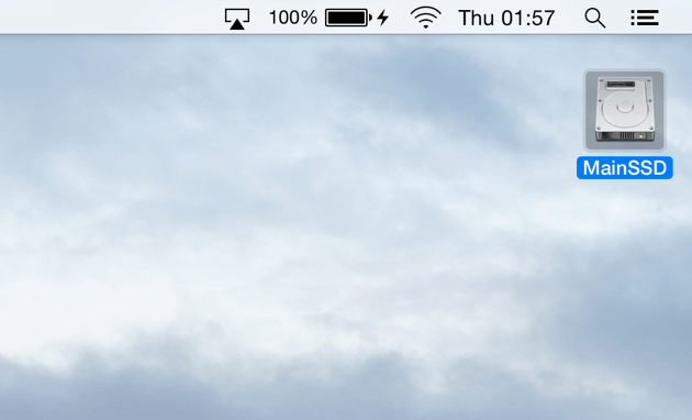 SSD principal OSX