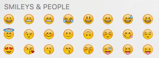 Emojis einfügen