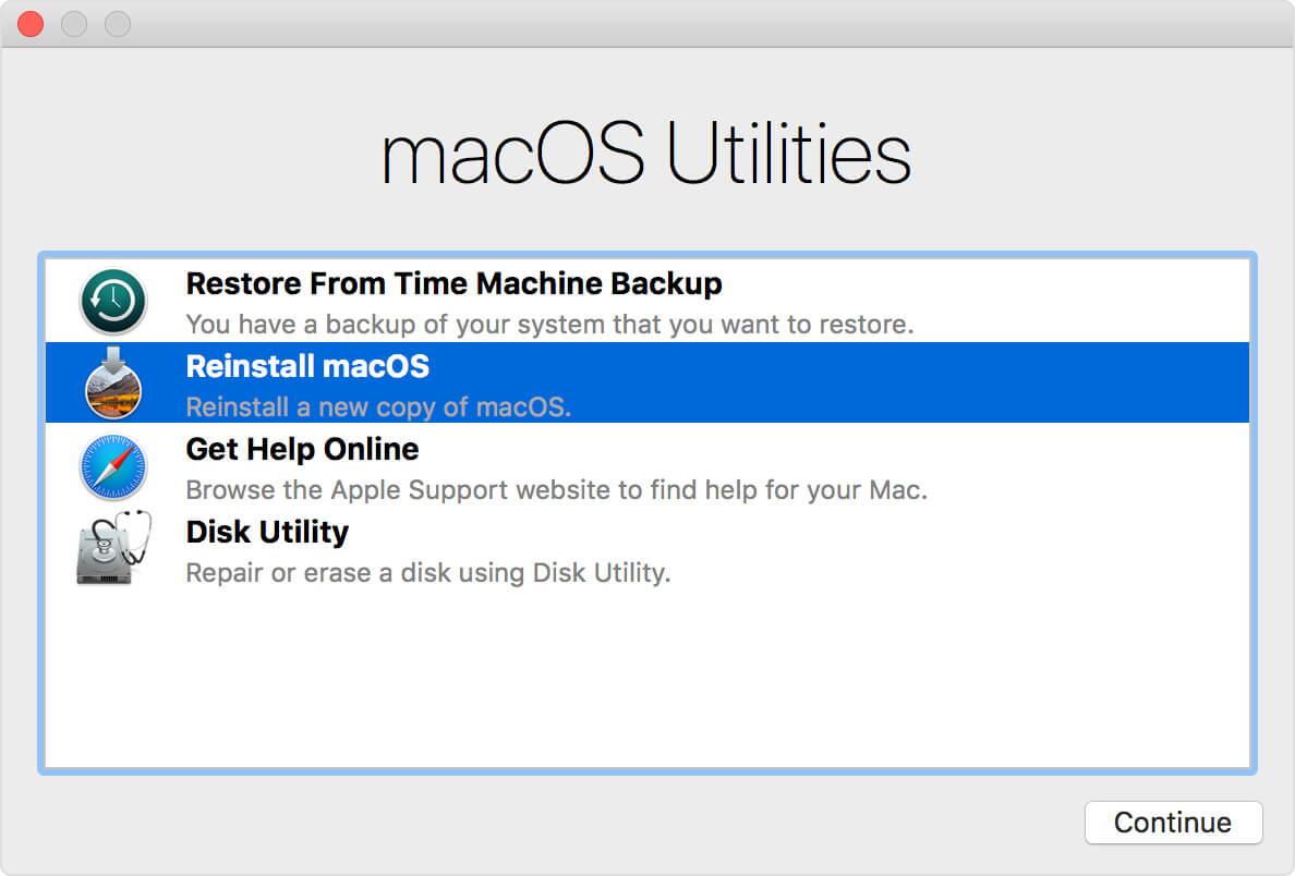 Installieren Sie Mac OS neu