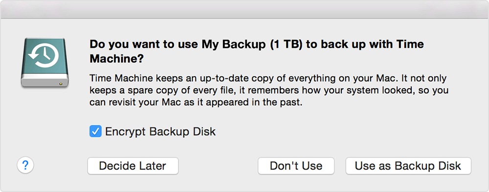 Time Machine Backup Mac