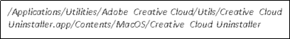 Adobe CC 제거를위한 실행 파일 위치의 폴더