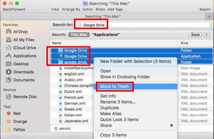 So finden und entfernen Sie App-Reste von Google Drive