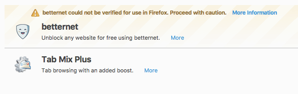 Firefoxの広告