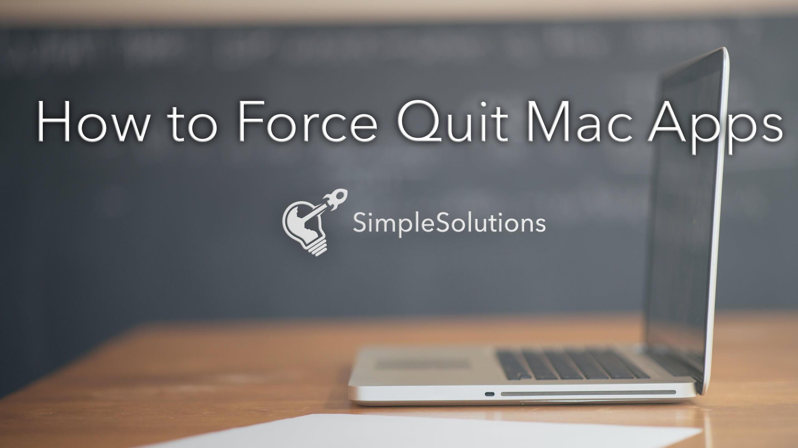 Cómo forzar las aplicaciones para salir de Mac