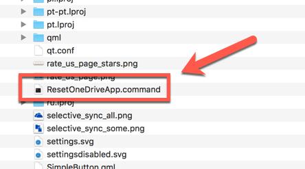 OneDrive 재설정