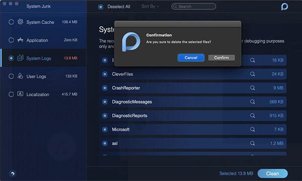 Powermymacシステムのジャンクシステムログ削除