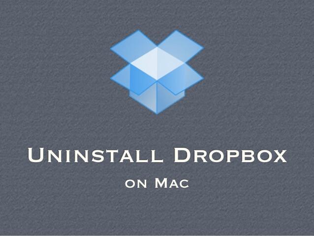 Deinstallieren Sie Dropbox auf dem Mac