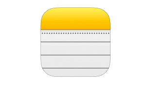 Icono de notas de Apple
