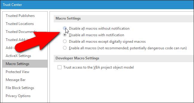 Cambiar la configuración en su aplicación de Microsoft Word