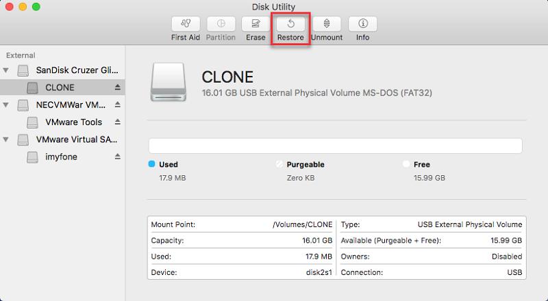 Klonen Sie die Festplatte über das Festplatten-Dienstprogramm