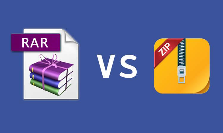 Diferencias entre Rar y Zip File