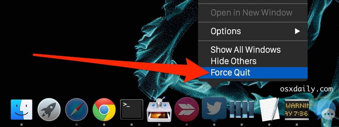 Force Quit Apps From Mac