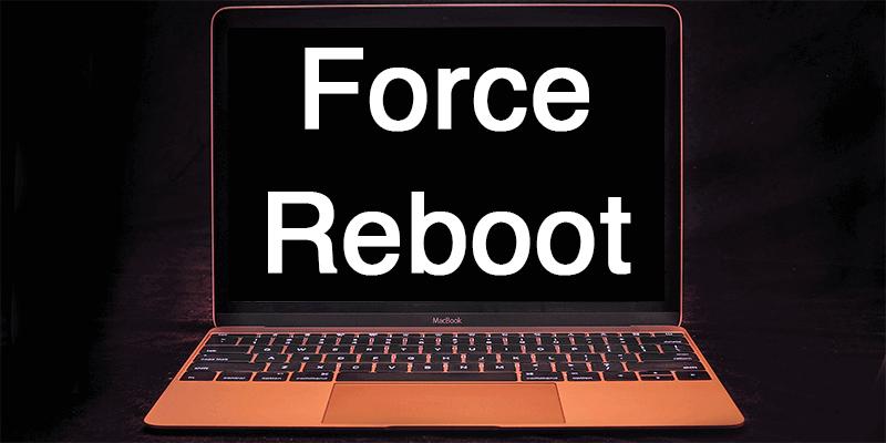 Erzwingen Sie einen Neustart des Mac