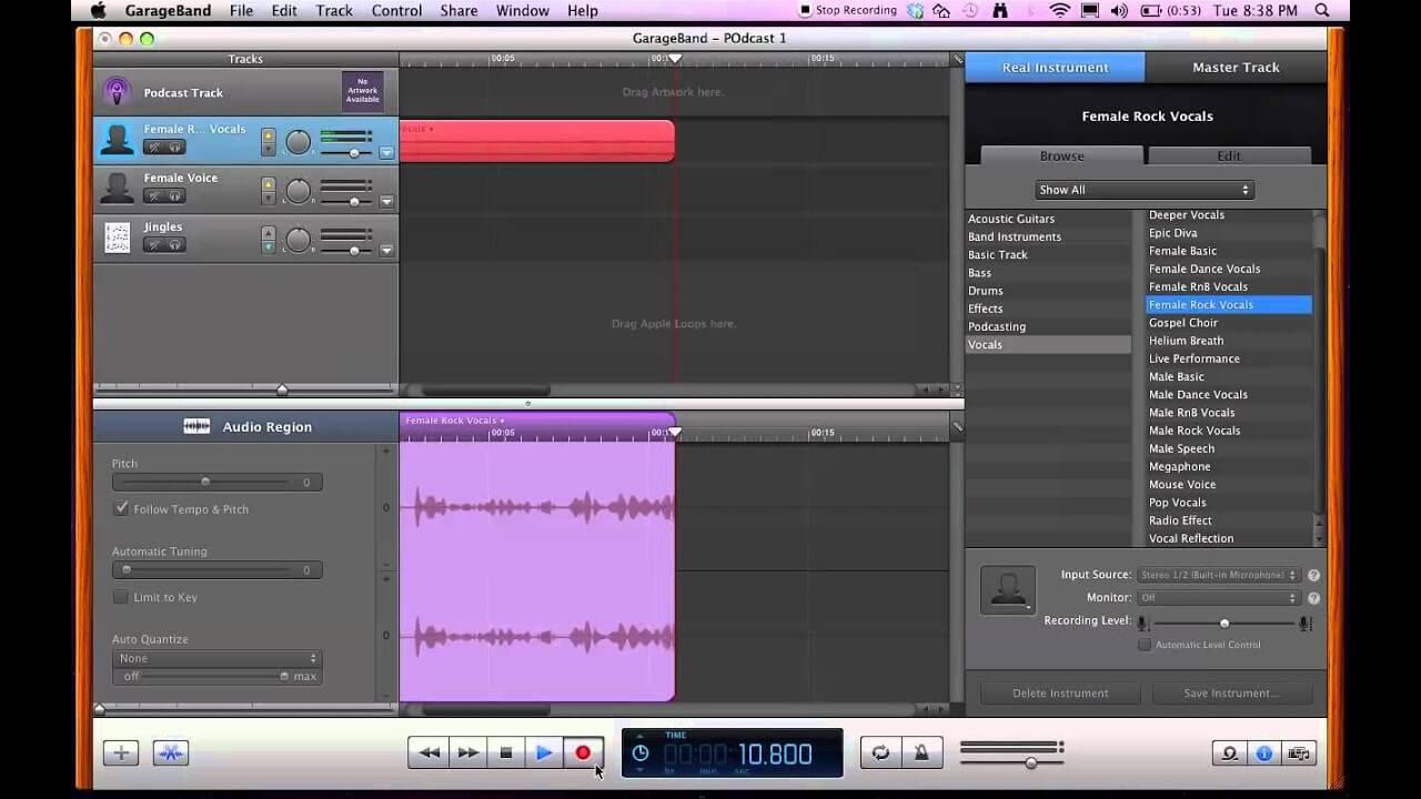 Cómo grabar audio en Mac usando GarageBand