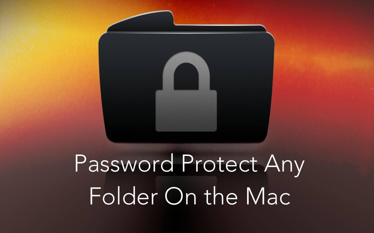 Einen Ordner auf dem Mac sperren