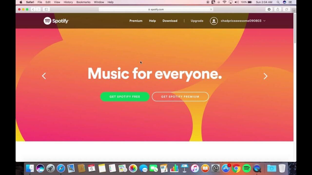 Macbookpro Spotify