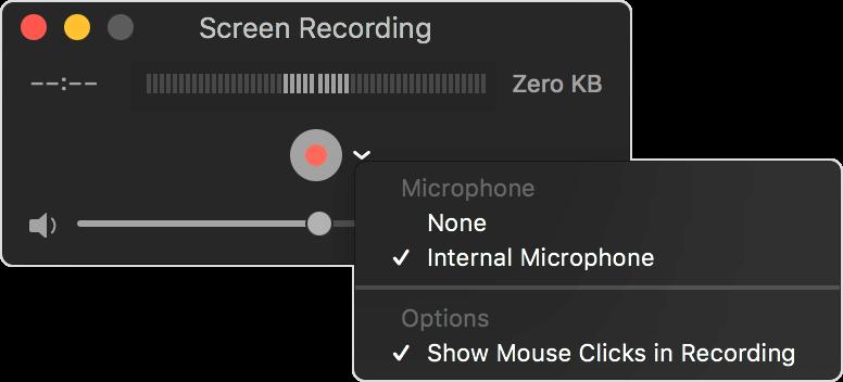 Mac上的Quicktime屏幕錄製