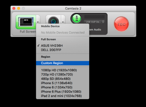 Record Screen On Mac By Camtasia