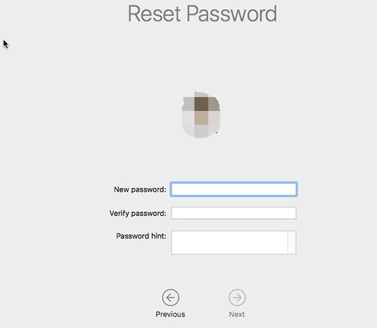 重置您的密碼