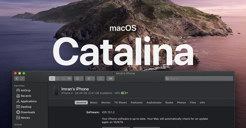 iPhoneをMacOS Catalinaと同期する