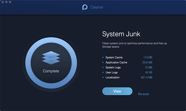 System Junk View