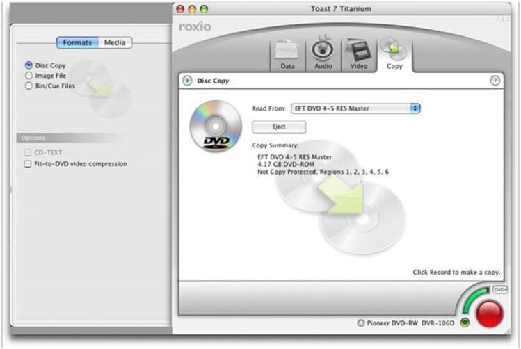 MacでToast Titaniumを使用してDVDをMP4に変換する