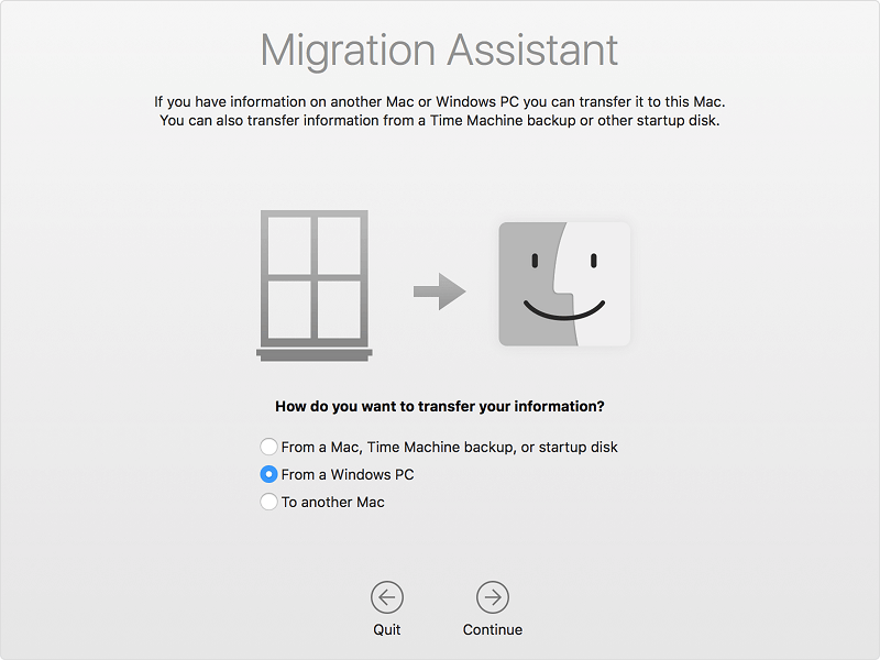Transfer iTunes Using Migration Assistant