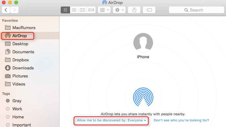 Transfer Videos From iPhone To Mac Using AirDrop