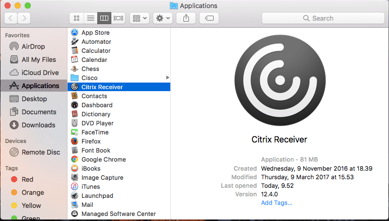 How to Uninstall Citrix Receiver from Mac