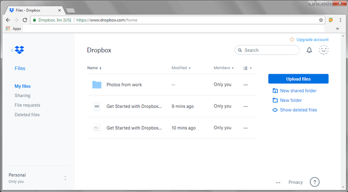 Using Dropbox to Transfer Files