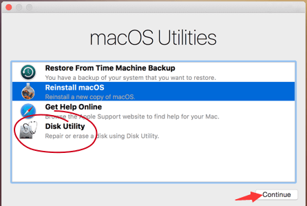 Repair the Disk Using the Disk Utility