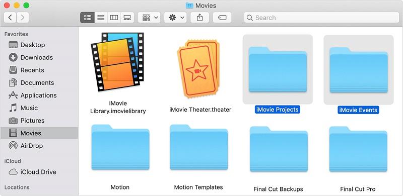 Dónde encontrar archivos de iMovie