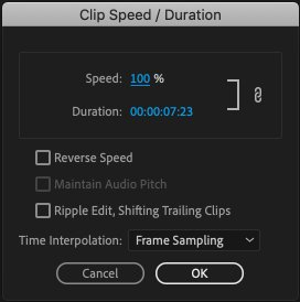 Speed Up a Clip in Premiere Pro
